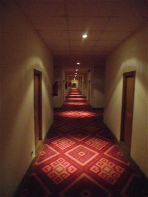 bedrooms and hallways hallways are badly lit and down at the bottom of the