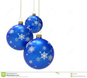 blue christmas baubles royalty free stock photo image