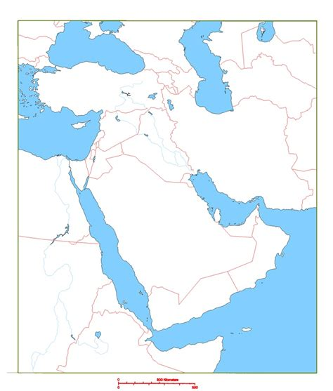 middle east map blank printable blank map of middle east cc geography