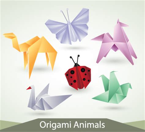 Designer Origami Create 40 Stunning And Practical Origami various origami animals design vector material 04 vector animal free