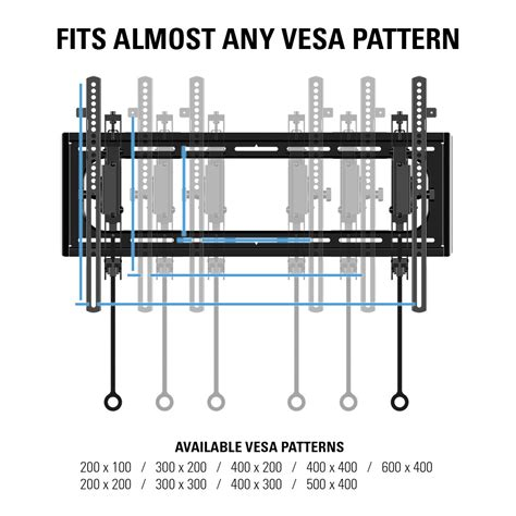 wall mount pattern sanus blt2 tilting wall mounts mounts products sanus