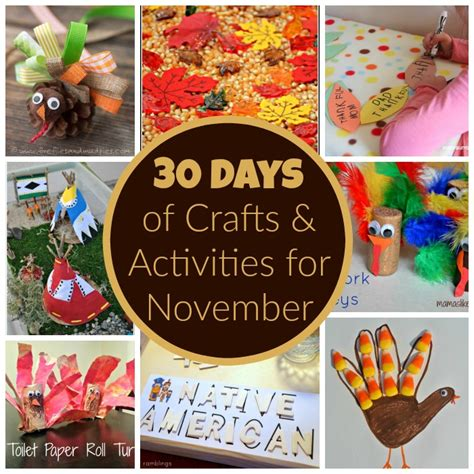 november kid crafts 30 days of activities for november free activity