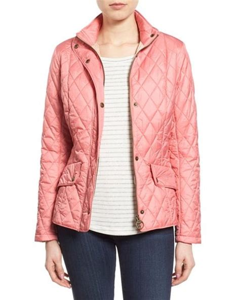 Barbour Pink Quilted Jacket by Barbour Flyweight Cavalry Quilted Jacket In Pink Vintage