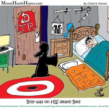 bed jokes are you on your death bed mental health humor