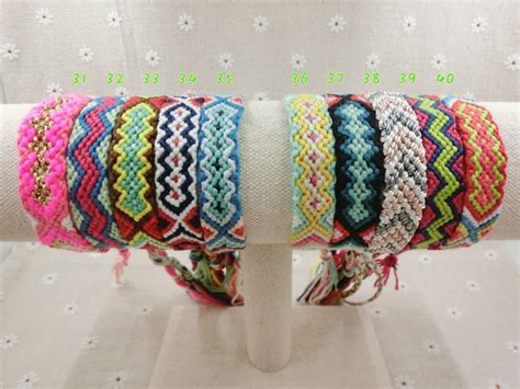 Handmade Yarn Bracelets - handmade bracelet friendship wrap 31 45 cotton friendship