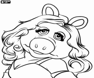 Muppets Coloring Pages Printable Games Miss Piggy Coloring Pages