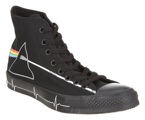 converse all hi black pink floyd trainers shoes ebay