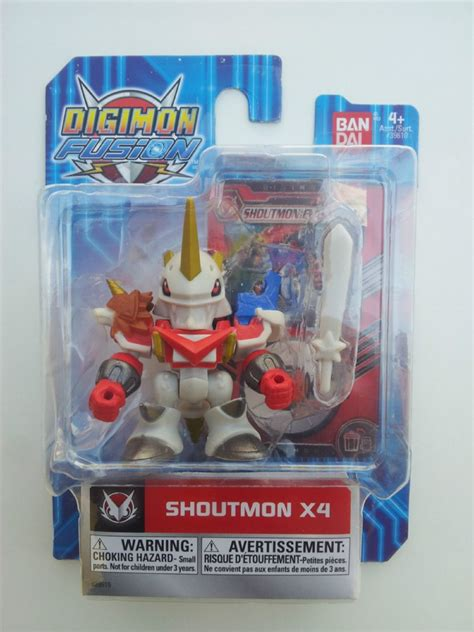 Bandai Digimon Fusion Shoutmon X4 digimon fusion shoutmon x4 7cm aprox