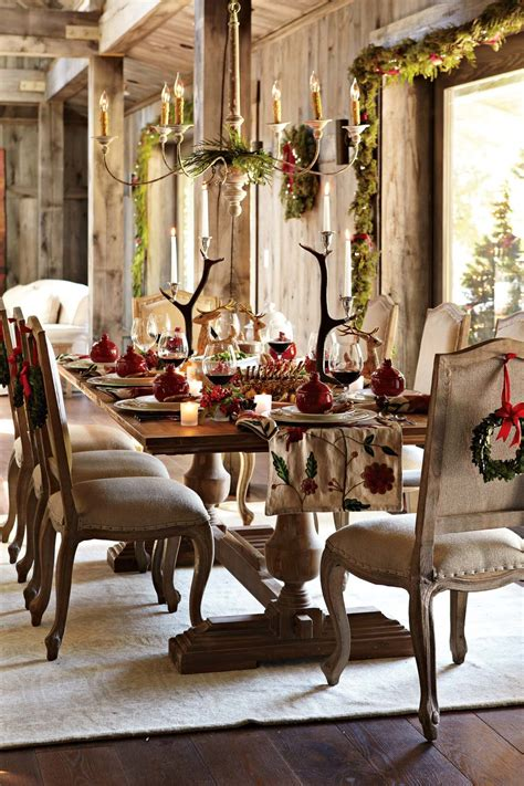 decorate  dining room  christmas room