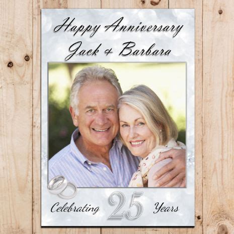 Wedding Anniversary Banner Ideas by Personalised 25th Silver Wedding Anniversary Photo