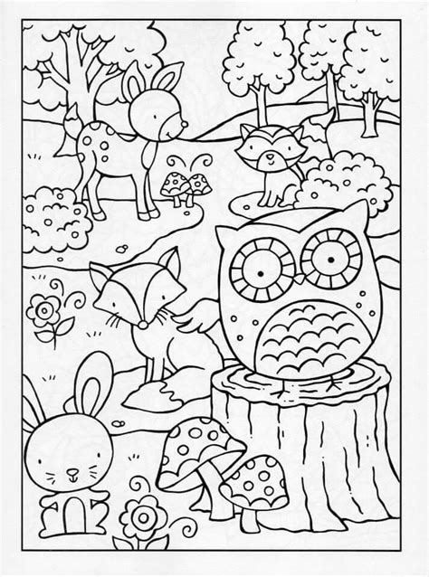 free coloring pages woodland animals woodland baby animals coloring pages coloring pages