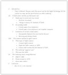 Essay Outline Exles That You Can Use by Outlining