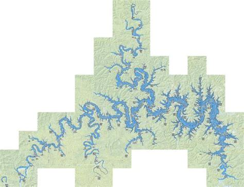 table rock lake fishing map us mo 00752479 nautical