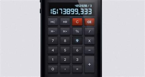 ios psd calculator ui kit mobile apps pixeden