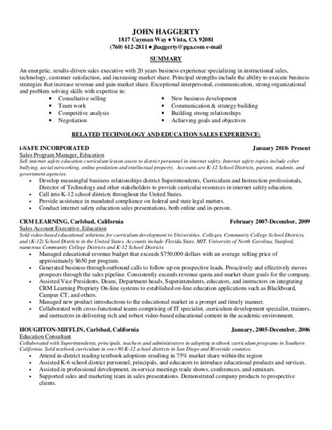 recent resume sles resume sales 01 3 12