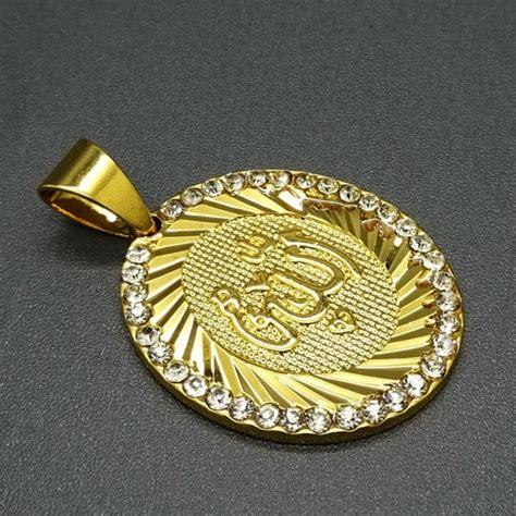 Cincin Nama Spiral Lapis Emas Asli 24 Karat Bisa Custom Nama liontin lafadz allah titanium berlapis emas pusaka dunia