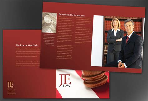 half fold brochure template for attorney law firm order