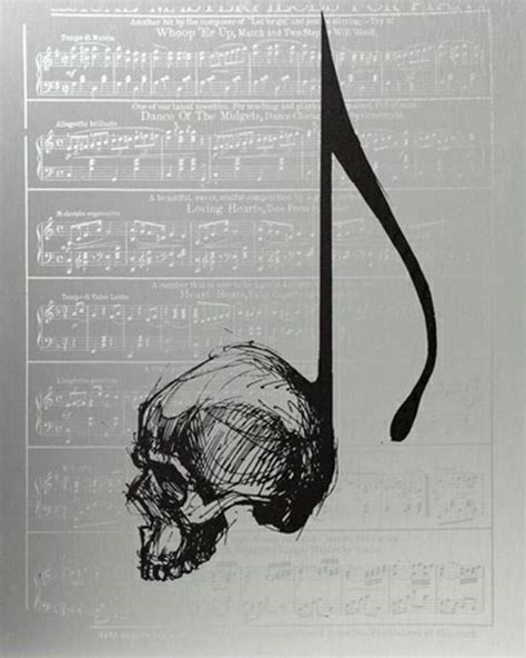 skull music note tattoo designs skull note pinteres
