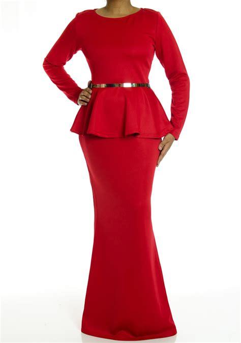 Maxidress Peplum sleeve peplum maxi dress