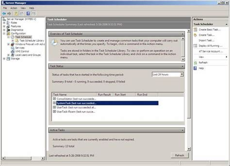 how to schedule a task in windows working with the windows server 2008 task scheduler part