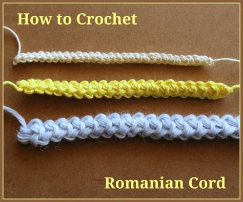 pattern hooks with cord how to crochet romanian cord crocheting pinterest