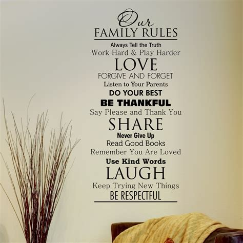 Sheen Kitchen Design Classic Family Rules Wall Quotes Decal Wallquotes Com