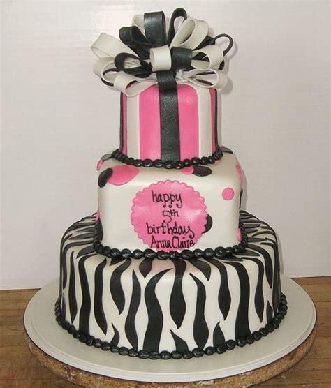 zebra pattern birthday cake 3 tier birthday cake with zebra patterns and bow jpg 2