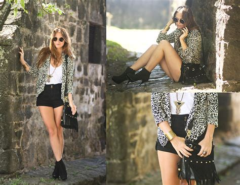 Nabella Blouse melanie winter leopard lookbook