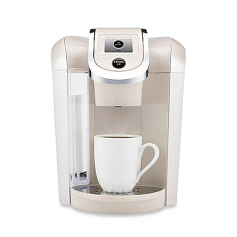 bed bath and beyond keurig buy keurig 174 2 0 k475 brewing system in sandy pearl from