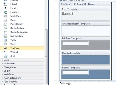 15 template field in gridview asp net c