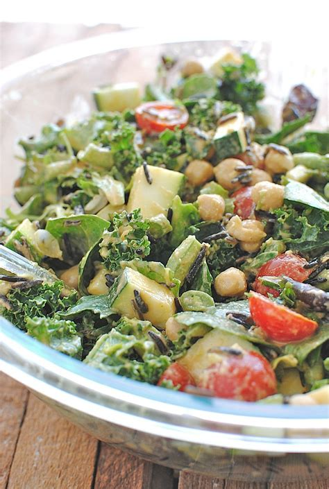Garden Vegetable Salad Kale Salad With Garden Vegetables And Rice Bev
