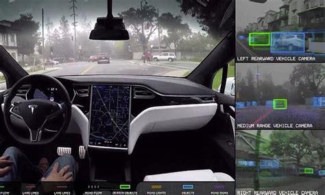 elon musk driverless cars tesla video reveals how elon musk s autonomous cars