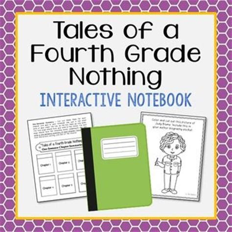 tales of a fourth grade nothing book report tales of a fourth grade nothing interactive notebook novel