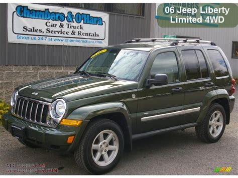 2006 green jeep liberty 2006 jeep liberty limited 4x4 in jeep green metallic photo