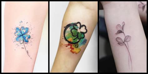35 artistic shamrock and four leaf clover tattoos