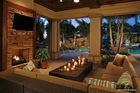 outdoor living room designs florida room designs pool tropical with outdoor fireplace
