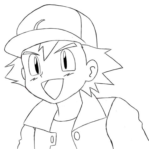 Ash Ketchum Coloring Pages ash ketchum coloring page coloring pages