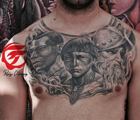 puerto rican heritage tattoo by roly viruez tattoonow