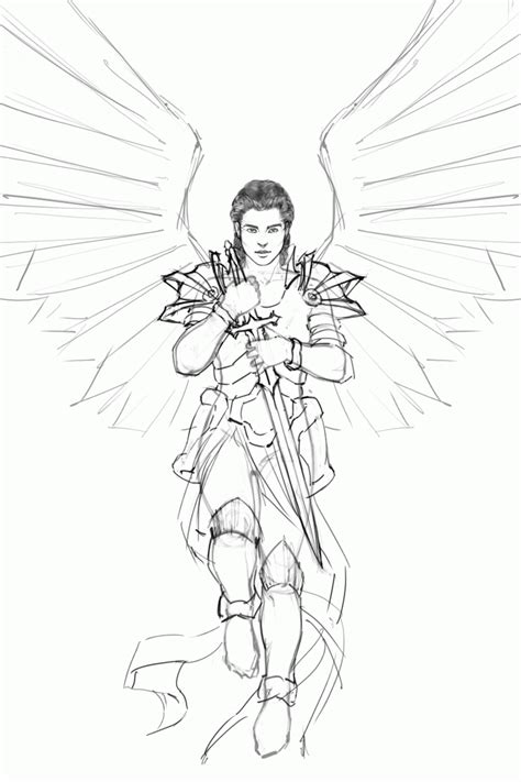coloring pages of guardian angels male guardian angel coloring page az coloring pages male