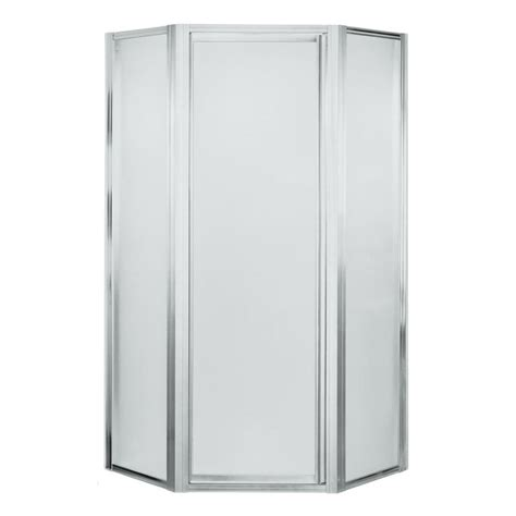 Shower Doors Lowes Shop Sterling Silver Neo Angle Shower Door At Lowes