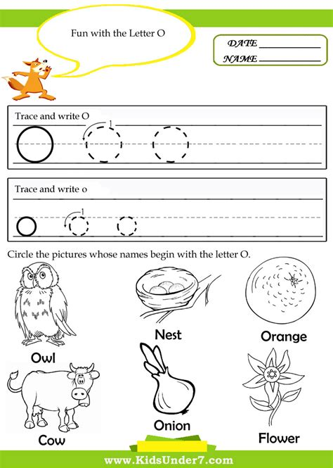 worksheet alphabet o kindergarten worksheets for the letter o google search
