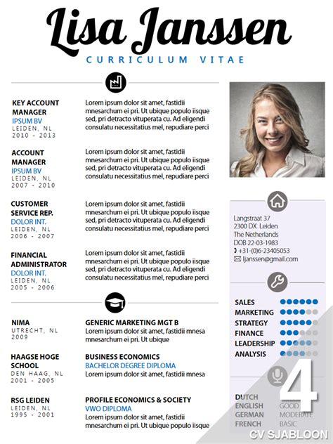 Cv Sjabloon 2014 cv sjabloon 4 de leydsche cv advies en ontwerp