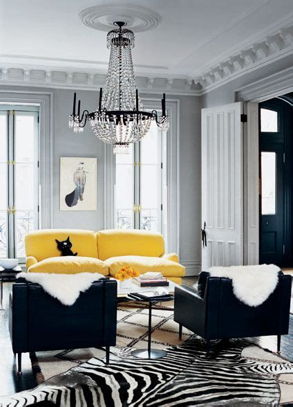 yellow black and white living room living room grey black white with pops of bright