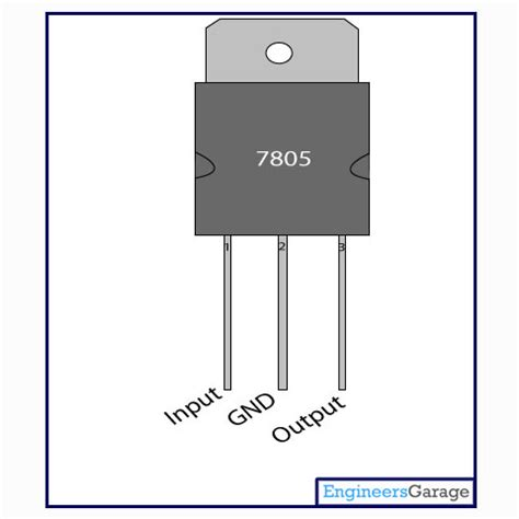 transistor lm7805 7805 voltage regulator ic 7805 datasheet pin diagram description engineersgarage
