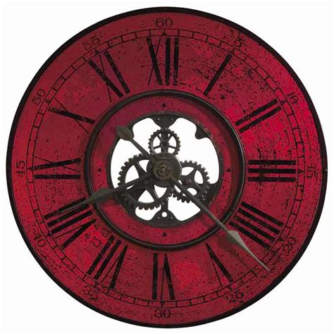 oversized clocks howard miller contemporary oversized wall clock with red dial