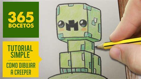imagenes de minecraft kawaii como dibujar un creeper kawaii de minecraft paso a paso