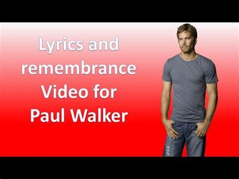 Wiz Khalifa Lyric Paul Walker see you again wiz khalifa ft puth lyrics tribute