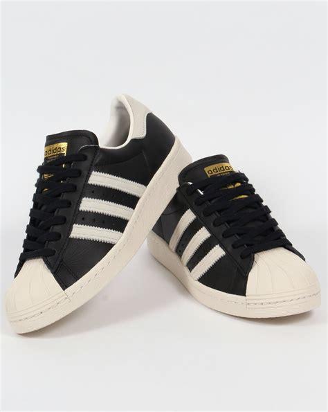 adidas superstar 80s trainers black white gold originals