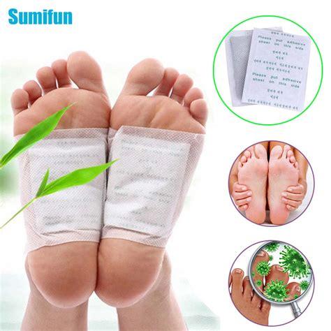 Discomfort Detoxing by 120pcs Kinoki Detox Foot Pad Patch Bamboo Massager