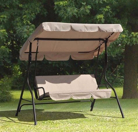 canopy for swing seat beautiful 3 person patio swing with canopy 4 outdoor
